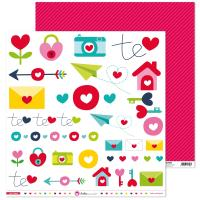 Papel Scrap 12x12 Con Amor Recortables