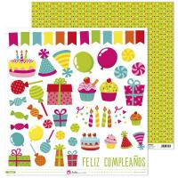 Papel Scrap 12x12 Fiesta Recortables