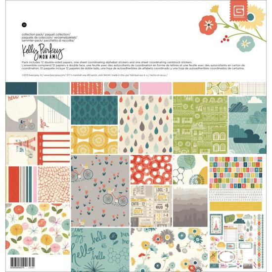 Papel Scrap 12x12 Basic Grey Mon Ami pack