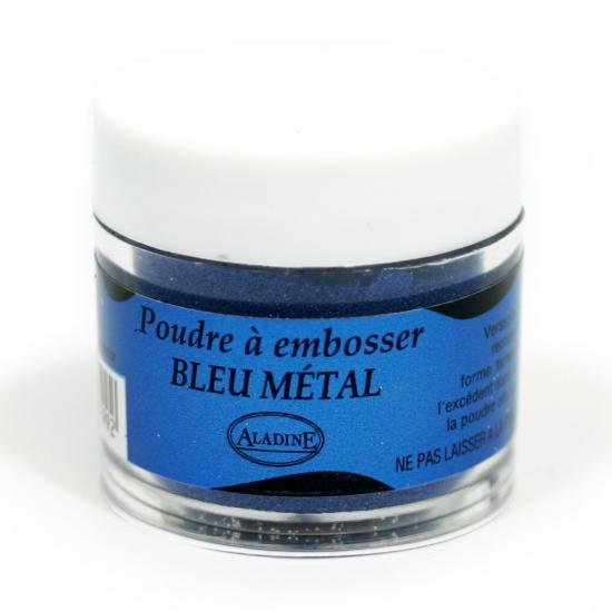 Polvo de embossing Aladine 30ml Metal azul